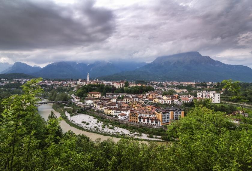 Belluno, panorama, Dolomiti